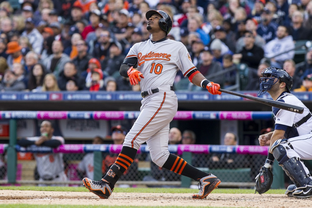 Adam Jones also hit a home run in the 7th inning, giving him 6 for the season. Jones is batting a .360, leading the MLB with 41 hits and 23 RBIs, both top ten in the MLB. I really think AJ has a great opportunity to capture the AL MVP crown but the O's will have to either win the division or make the playoffs for him to be a realistic candidate. Individually, I think he will do his part because I don't see him slowing down. (AP PHOTO)