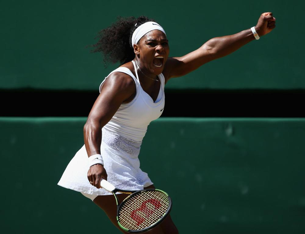 Against top-ten ranked opponents, Serena is 353-94, 144-59 against #1 ranked opponents. She has a winning percentage against players like Martini Hingis (54% 13 matches), Venus Williams (57.6% 26 matches), Lindsay Davenport (71.4% 14 matches), Victoria Azarenka (85% 20 matches), and Maria Sharapova (90% 20 matches). (Clive Brunskill/Getty Images)