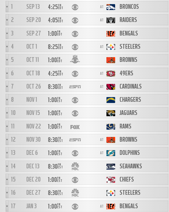The Ravens will play one of the toughest schedules this season. John Harbaugh has already made plans for the teams to stay on the west in between weeks 1 &2 and 6 & 7. Ravens also will play 7 playoff teams from 2014 and 5 prime-time games. (courtesy of Baltimoreravens.com)