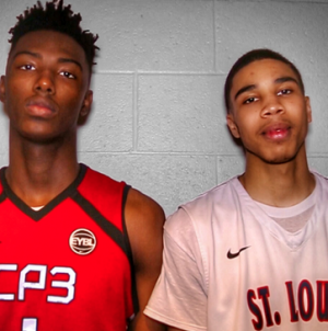 Harry Giles (left) and Jayson Tatum both played on the USA U-16, U-17, and U-19 teams, winning gold medals on all three squads.