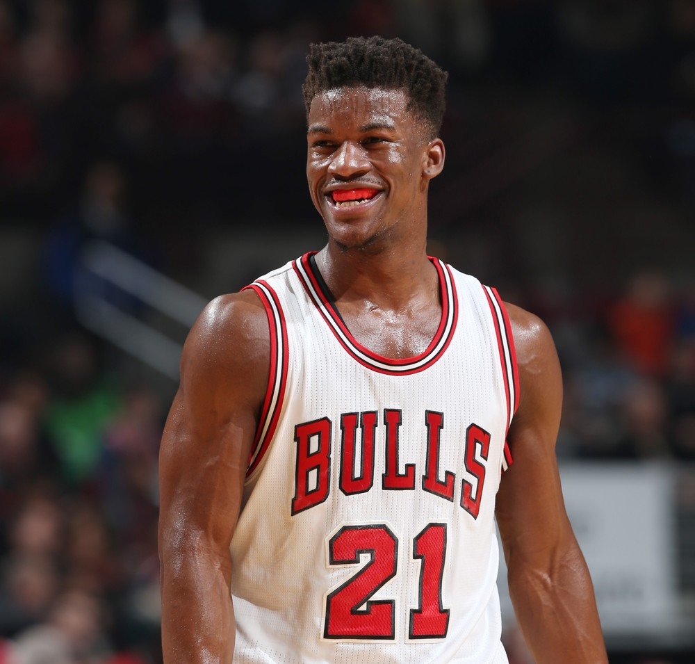 While Derrick Rose was nursing his back-to-back knee injuries, the versatile Jimmy Butler became the Bulls premier player. (Getty Images)