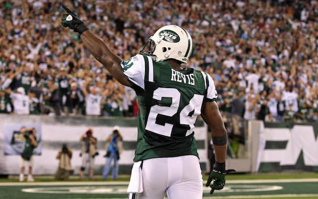 Revis Island is back in New York. (AP Photo)