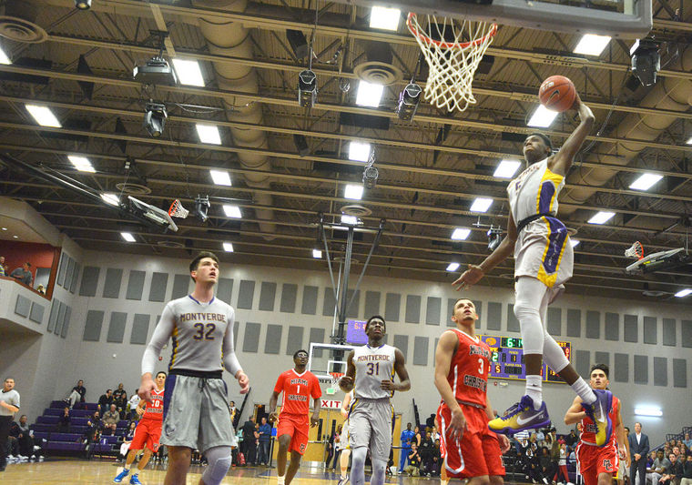 R.J. Barrett goes up for the dunk against Miami Christian School. Barrett is one of a few stellar underclassmen on this roster and one of three Canadian players. (Amber Riccinto / Daily Commercial)