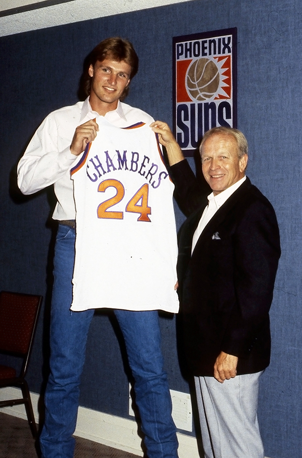 In five seasons withe Suns, Chambers averaged 20 points and 6.6 boards. The team averaged 55 wins a season and he was named to the West All-Star team three times. (Getty Images)