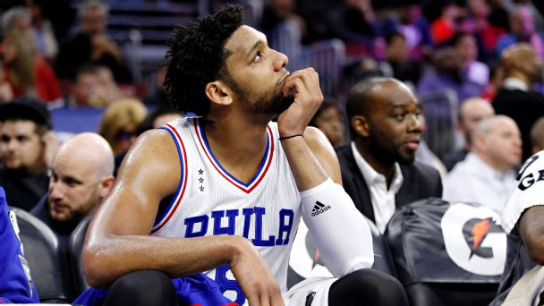 Jahlil Okafor was the Sixers 3rd overall pick in 2015 but the highly-touted center out of Duke would spend his years in Philly stuck on the bench, lost in the rotation. His rookie season he averaged 17 points per contest but never duplicated that success. The Sixers traded him to the Nets December 7th 2017. (Getty Images)