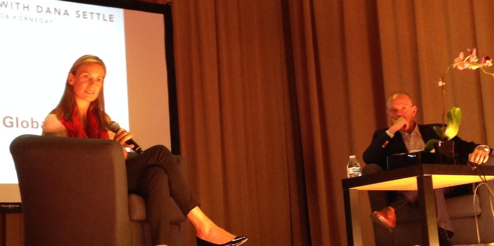 Dana Settle with moderator Rob Kornegay of WSGR