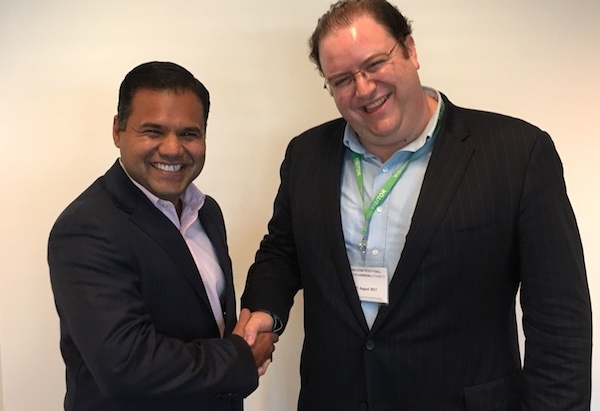Deputy Mayor of London for Business Rajesh Agrawal & TechFire CEO David Murphy -