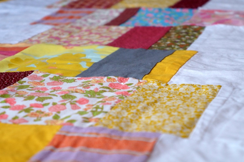 stack quilt detail