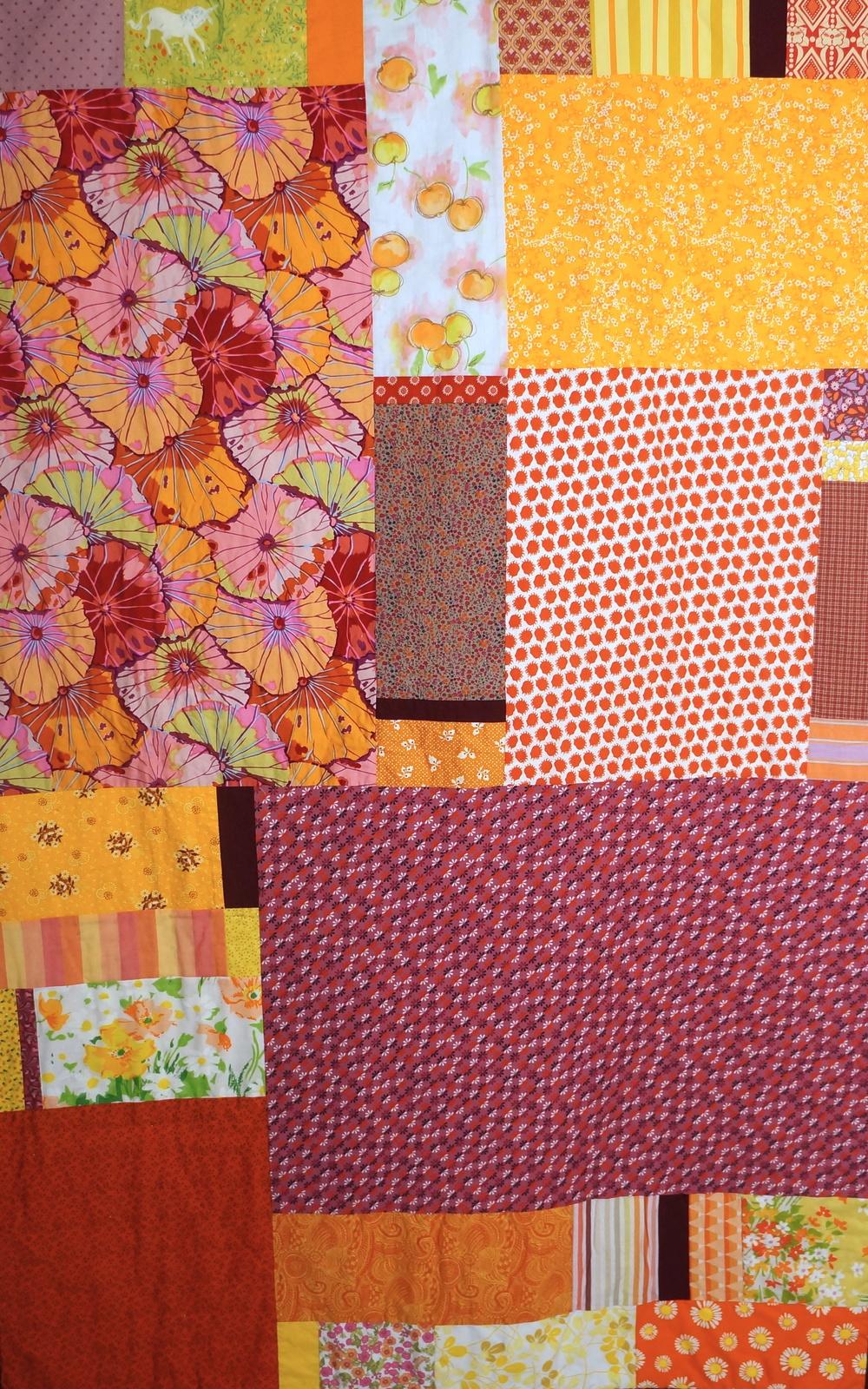 large quilt, detail