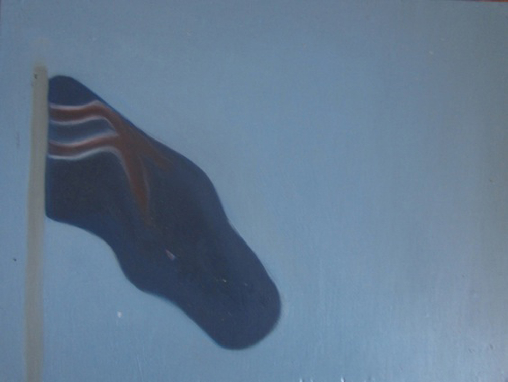 8. Holly Yoshida,  Constellation of Delirium (Flag)  (Detail), Oil on Board, $65