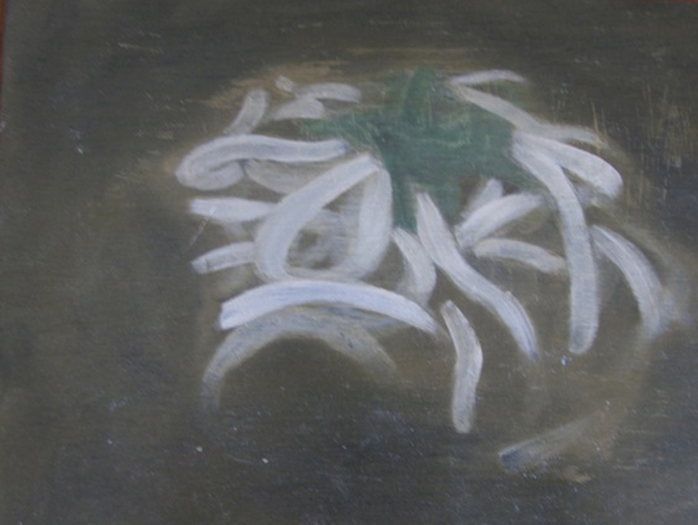 8. Holly Yoshida,  Constellation of Delirium (Plant)  (Detail), Oil on Board, $65