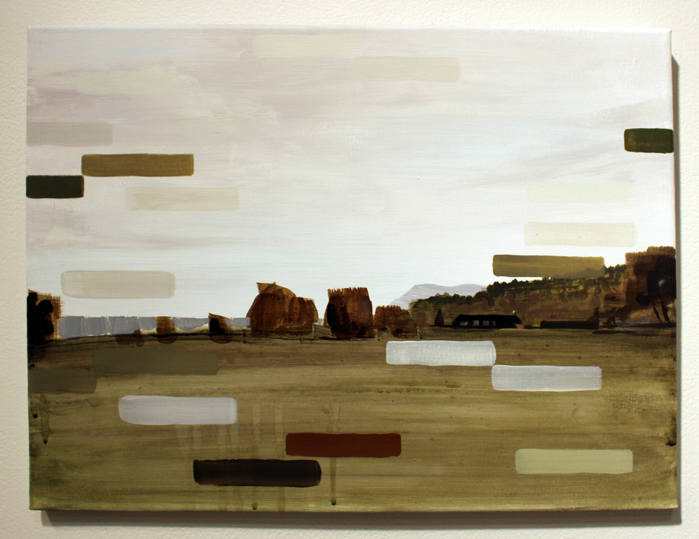 23. Ian Williams,  Hostiles , Oil and acrylic on canvas, SOLD