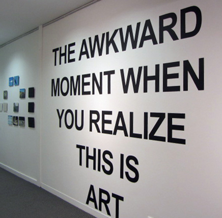 9. Phoebe Tran,  Awkward Moment  (Installation View), painted installation, price by commission