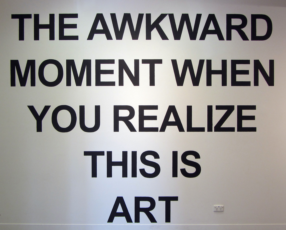 9. Phoebe Tran,  Awkward Moment , painted installation, price by commission