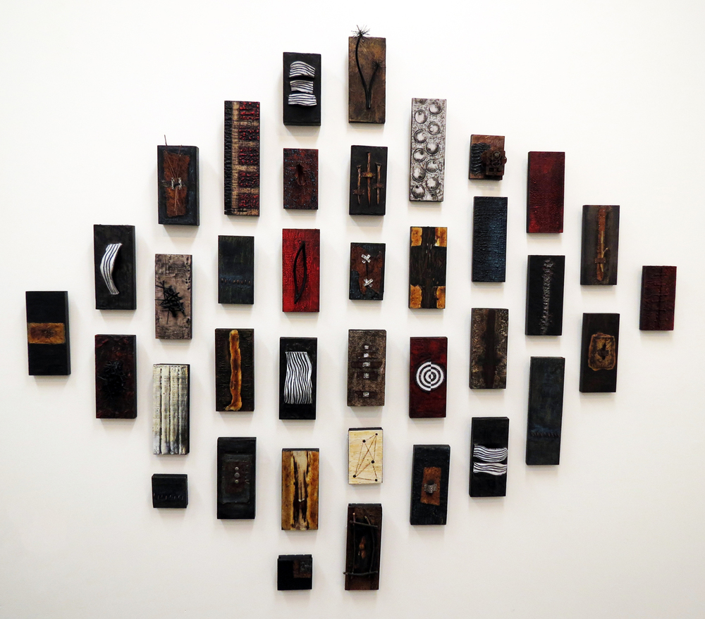 Shelley Piang-Nee,  Encaustic Panel  (Installation Detail)
