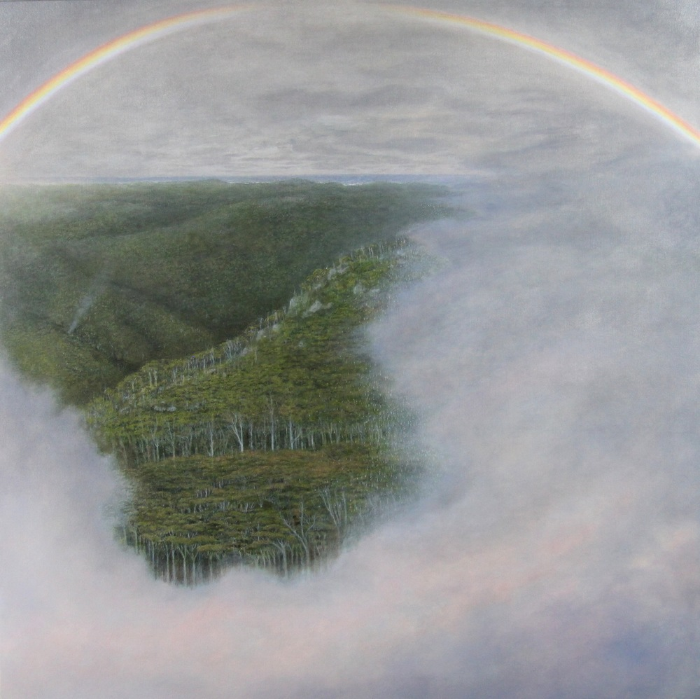 12. Alan Muller,  Walken Boona Boodja (Rainbow Tree Country)  2014, acrylic on canvas, $4,400