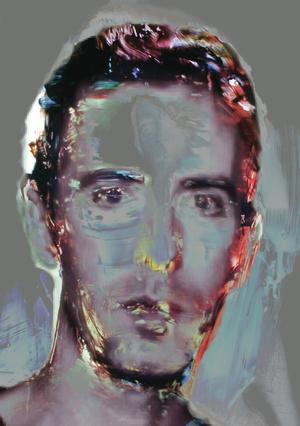 15 Daniel Webster,Self Portrait2014, digital print, acrylic, Japanese ink, triptych: each panel 80 x 57 cm, $5,000