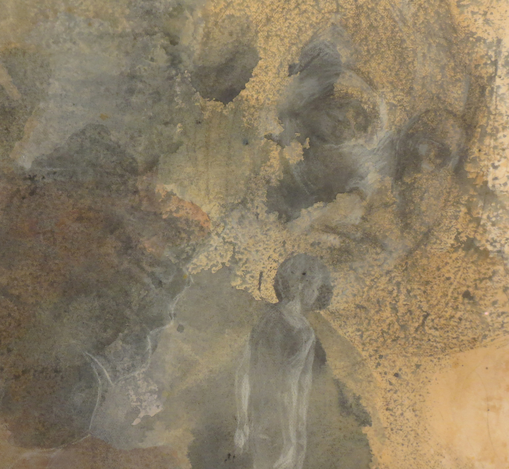 6 Andrea Wood,  Spring 1  (detail), ink, pencil, chalk, charcoal on cotton rag paper, $615