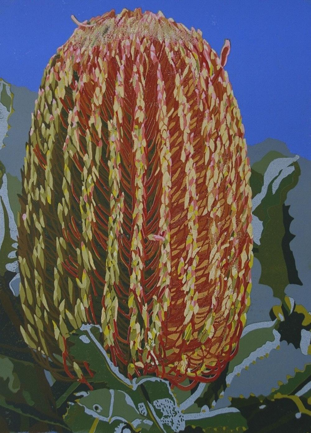 21. Helen Clarke,  Banksia Menziesii , reduction linocut, $970