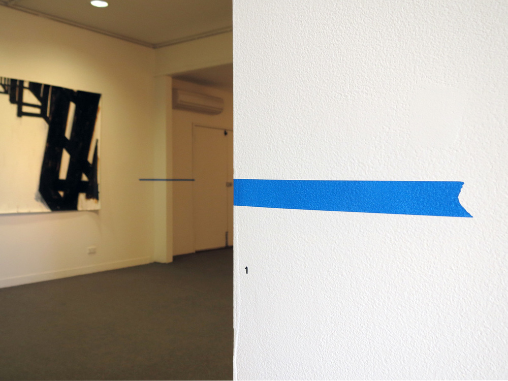1. Shannon Lyons,  I run my hand along the wall and imagine (a dado rail) , wall paint, POA