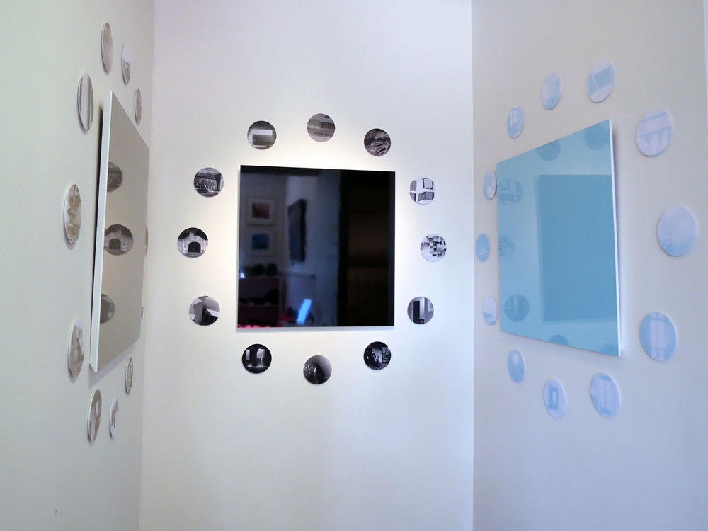 2.   Simon Pendal and Stephen Neille of Pendal and Neille,   Reverberations  , laminated MDF, paper, foamcore, triptych $1800