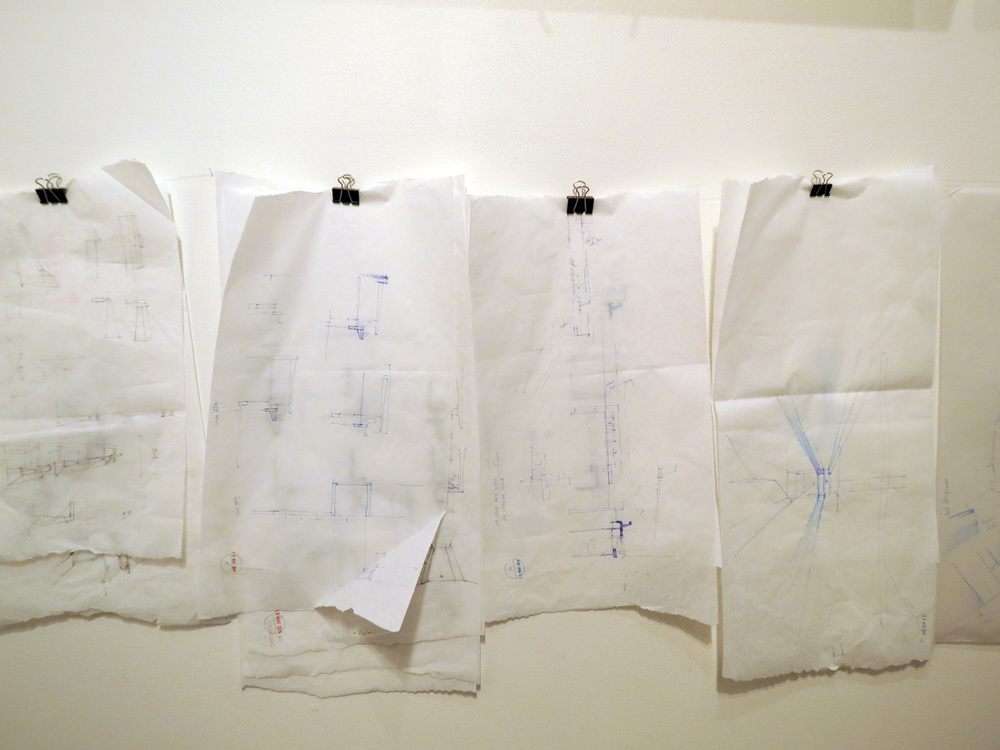 7.   Beth George,   Morning House Explorations   (Sketches Detail), mixed media installation, NFS