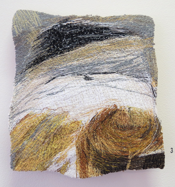 3. Dionne Swift,  Found Stitches 1 , free machine embroidery of cotton, silk and viscose thread, $320