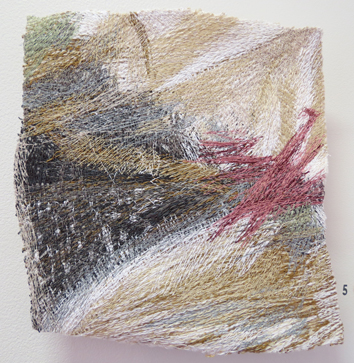 5. Dionne Swift,  Found Stitches 3 , free machine embroidery of cotton, silk and viscose thread, $320