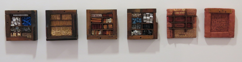 14. Diane Savona,  This Too Shall Pass - Movable Type , mixed media, $230 per tile