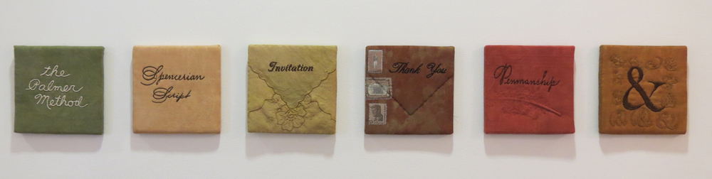 15. Diane Savona,  This Too Shall Pass - Penmanship,  mixed media, $230 per tile