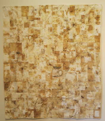 16. Heike Gerbig,  Possum Paper Dreaming , paper tablecloth, material, paper, dyed, stained, machine and hand stitched, NFS