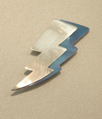 6.  Thor Brooch , niobium, sterling silver $195