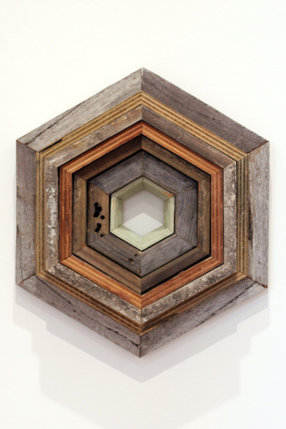 4. Jonathan Holding,  Echo of Reflection , Found wood, 47 x 40 x 12cm, $260