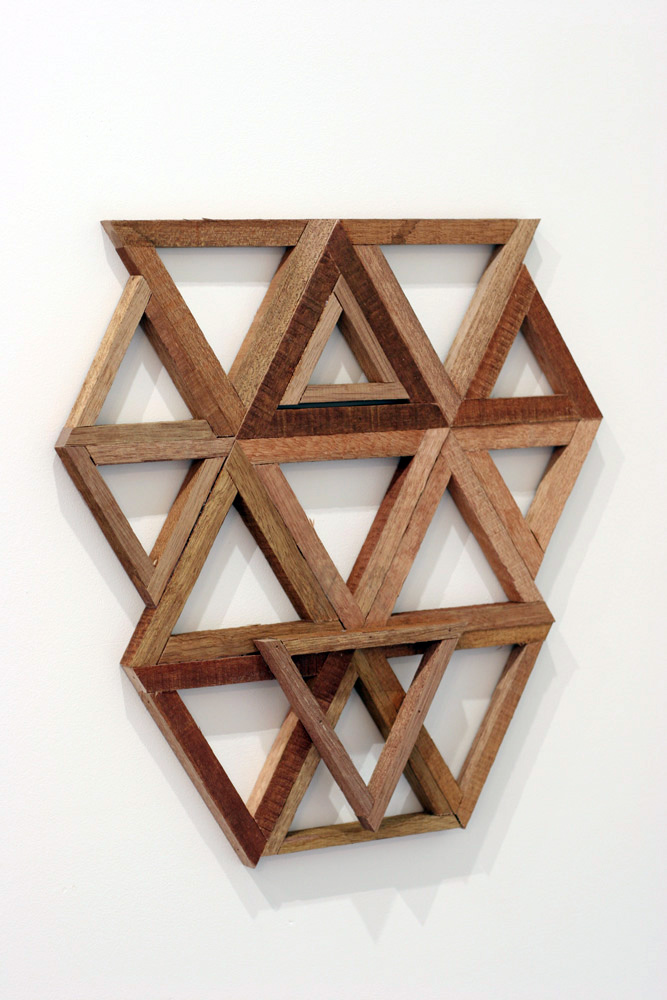 3. Jonathan Holding,  Template , Found wood, 44.5 x 43.5 x 2cm, $110