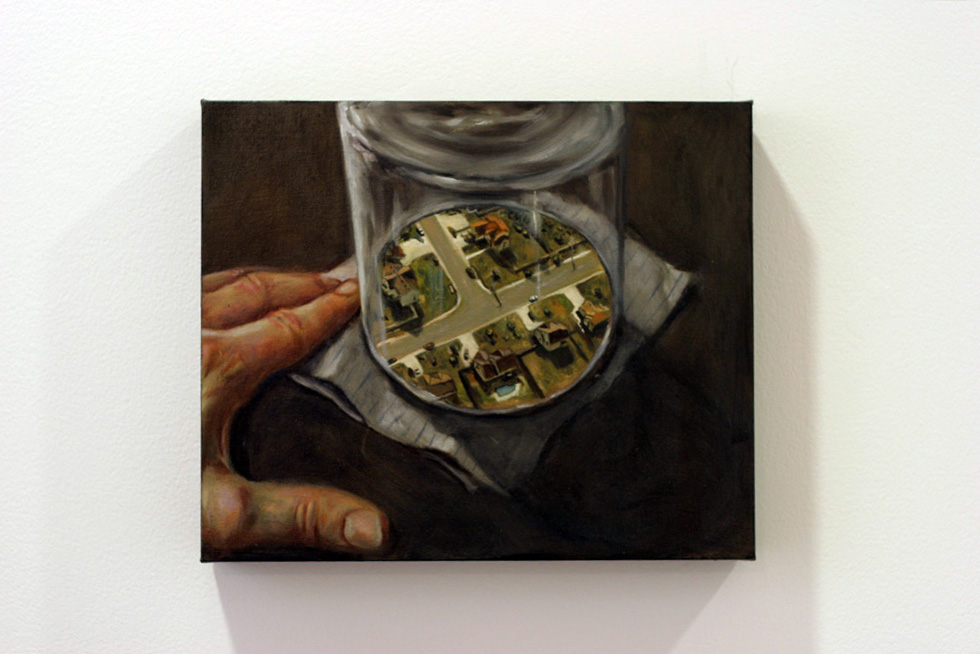 8. Michael Rankin,  Urban Entrapment  Series, Oil on canvas & mixed media, dimensions variable, NFS  Courtesy of Edith Cowan University Collection