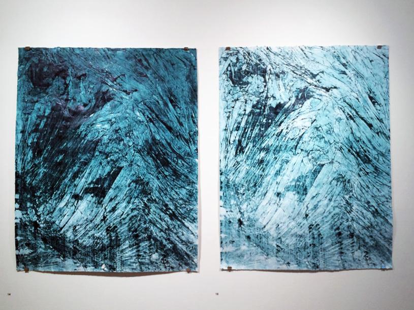 14. Tessa Beale,  Glacier 11 & Glacier 12 , Intaglio print, 90 x 108cm, $400 each
