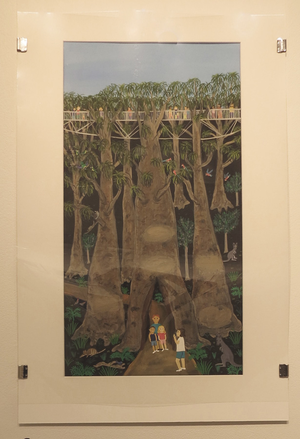 7.  V is for Valley of the Giants  by Frane Lessac, gouache on paper, $895