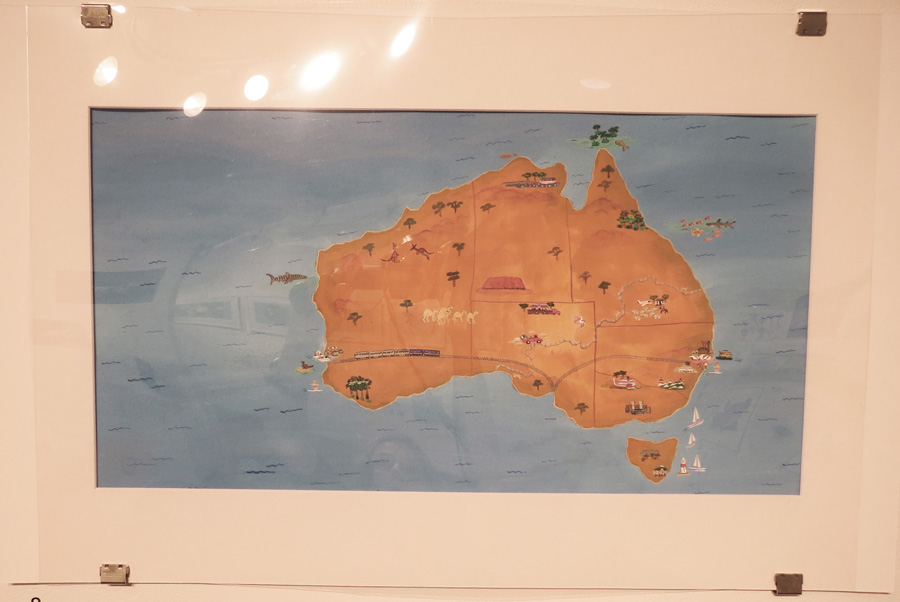 8.  A is for Australia  by Frane Lessac, gouache on paper, $895