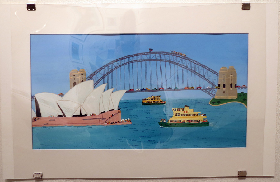 10.  S is for Sydney  by Frane Lessac, gouache on paper, $895