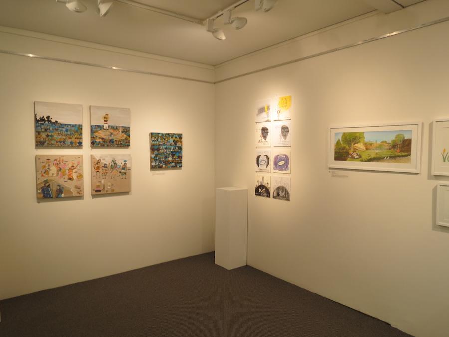 heARTlines  install - gallery n-w corner