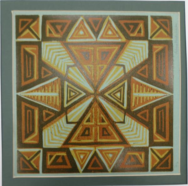 A4. Alma Hotchkin,  Squared 2-3,  c1970, $200