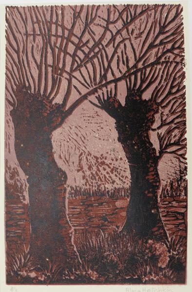 A15. Alma Hotchkin,  Winter 3-3,  c1970, $80