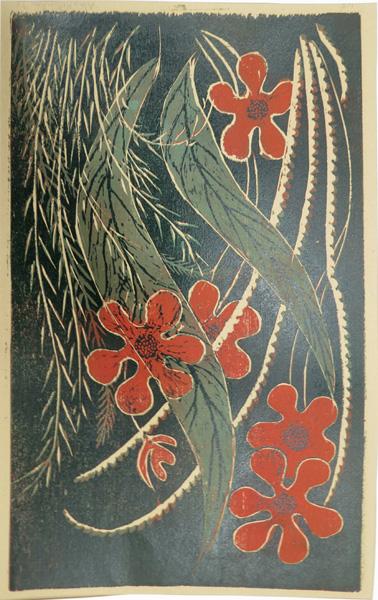 A27. Alma Hotchkin,  Designer Garden 1-5,  Woodcut, 1973, $250