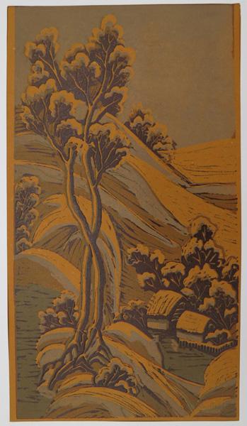 A28. Alma Hotchkin,  Snow Stillness,  c1980, $180