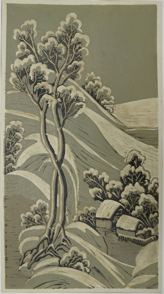 A29. Alma Hotchkin,  Snow Stillness,  c1980, $180