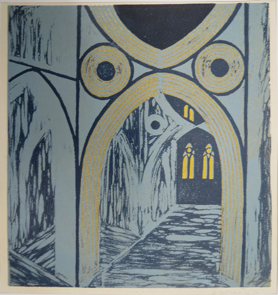 A31. Alma Hotchkin,  Church Interior,  1976, $200