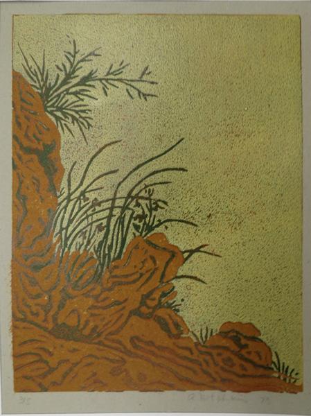 A34. Alma Hotchkin,  On the Edge 3-5 , 1973, $130