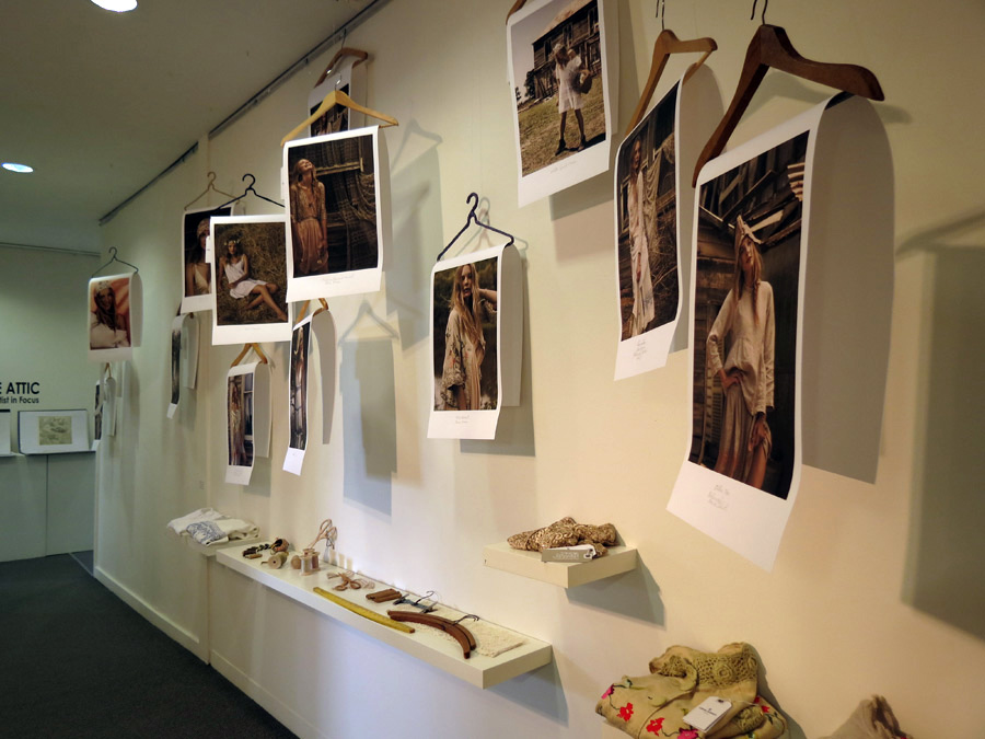 3.  Cloth-ing  installation by Lorna Murray, laser print on paper (photo. Juli Balla), mixed media