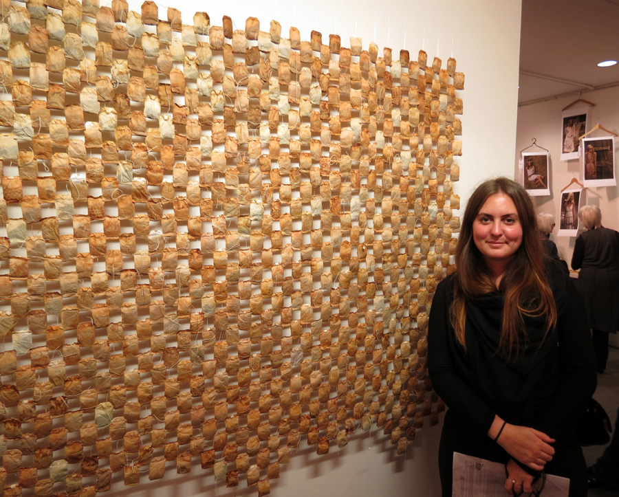 Elizabeth West with her work
