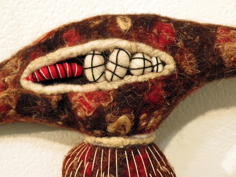 21.  Adelita  (detail) by Katrina Virgona wool, wire, cotton, silk, human hair $390